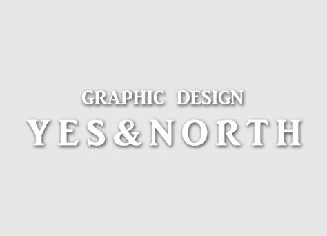 グラフィックデザイン yes and north